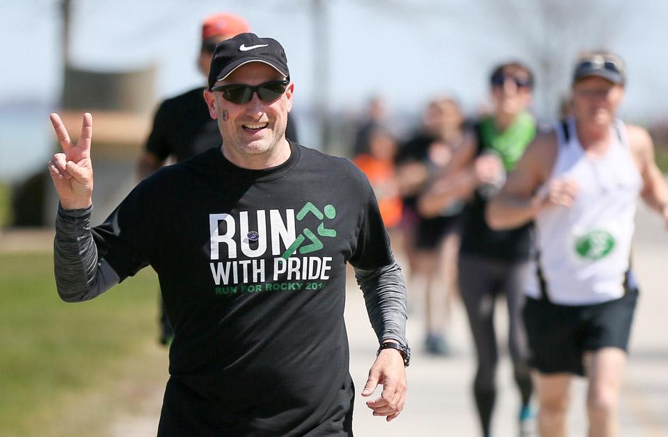 Man Running For Rocky